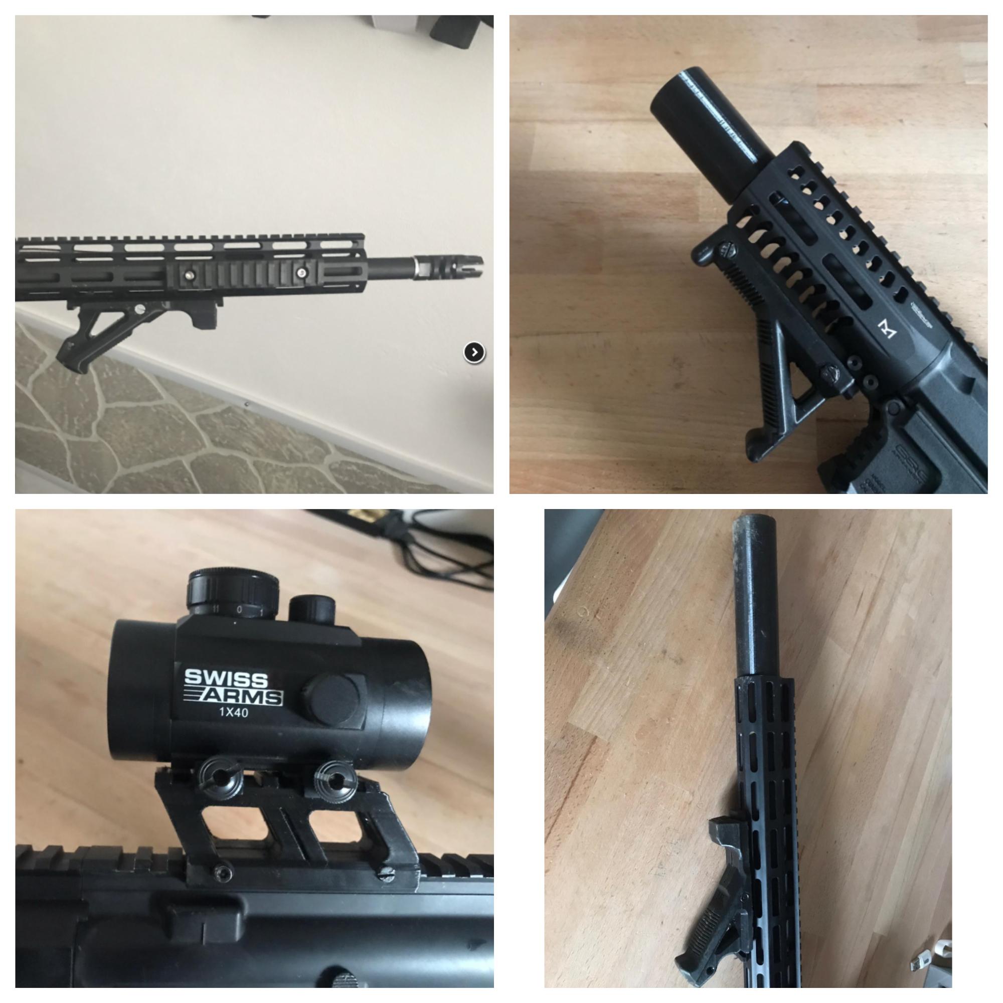 Grip a ris lišta na zbraň
